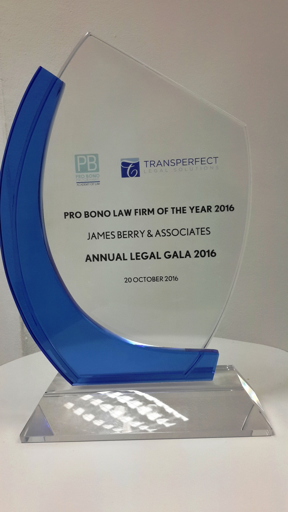 DIFC COURTS' PRO BONO LAW FIRM OF THE YEAR 2016