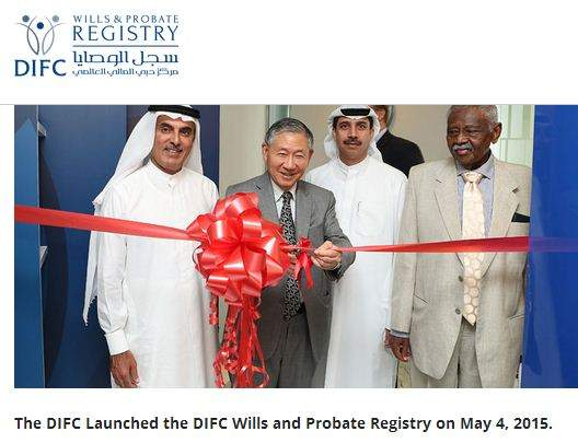 DIFC launches Wills and Probate Registry