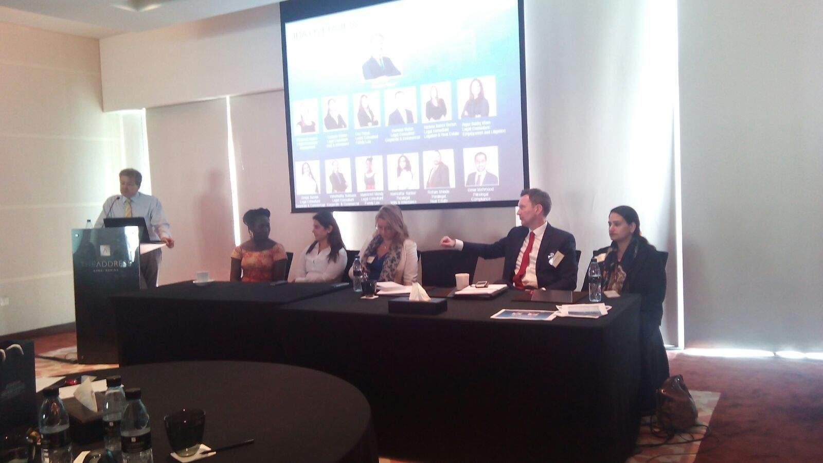 Living, Working and Doing Business in Dubai-JBA Forum Workshop