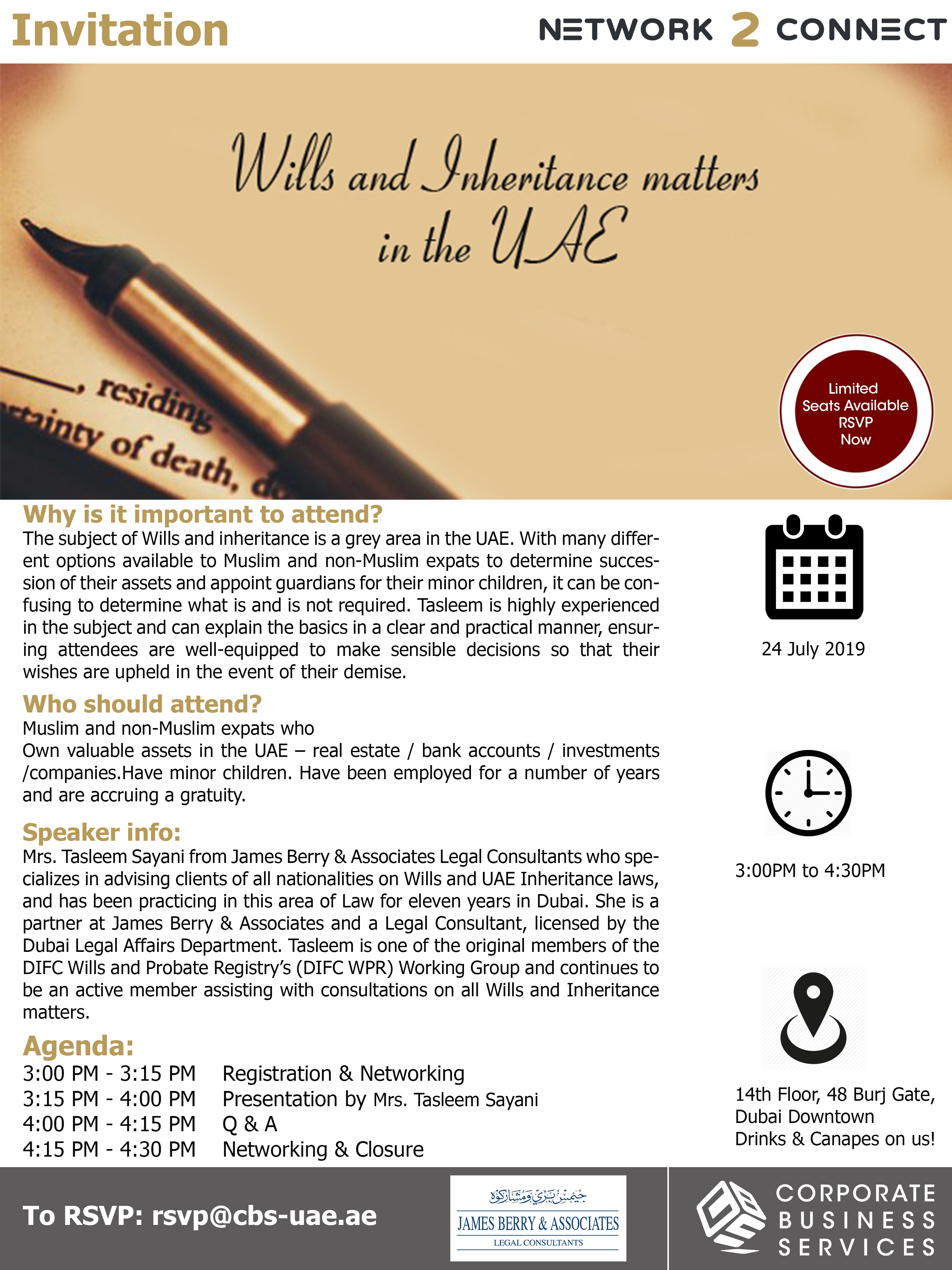 Seminar on Wills and Inheritance Matters in UAE